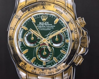 Gold Rolex with Emerald Dial