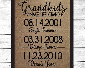 grandma gift, gift to grandma, Christmas gift for grandma, personalized Mother's day gift, grandkids make like grand, grandmother gift, FM10