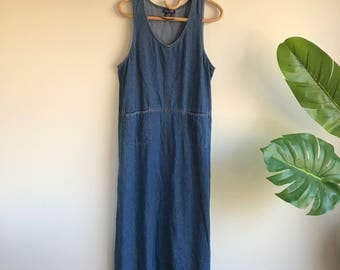 Vintage Denim Dress Size Large