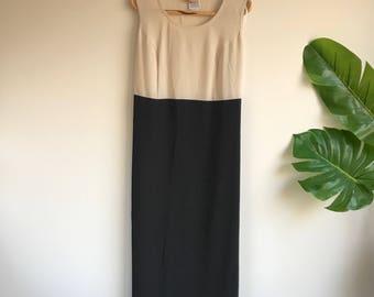 Minimalist Plus Size Black and white block dress Size 18