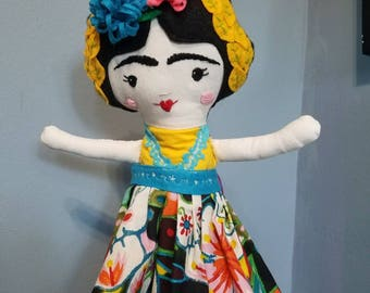 Soft Frida Cloth Doll ( All Dolls are Different)