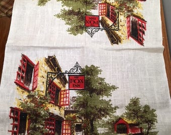 The Fox Inn (England)  Linen Dish Towel