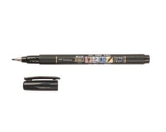 Tombow Fudenosuke Brush Pen, Soft Tip, Black