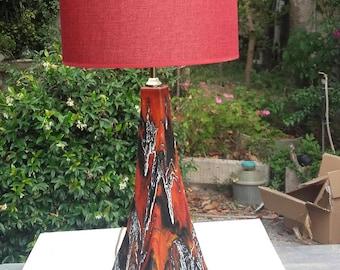 """Lamp Raku """"Volcano"""""""