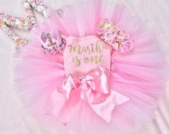 XL BOW princess tutu, birthday tutu, cake smash, flower girl skirt