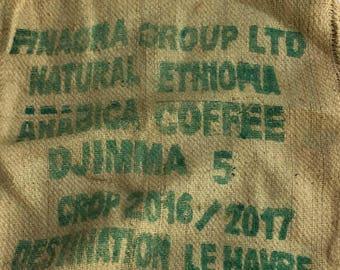 Vintage decorative coffee bag
