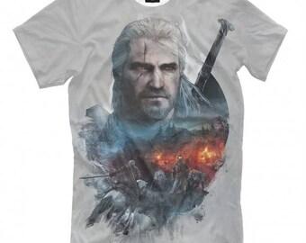 The Witcher Art Full Print T-Shirt All Sizes XS-6XL