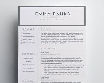 Resume Template | Marketing CV | Resume Template Word | Marketing Resume | CV Template | Professional Resume | Modern Resume | Simple Resume