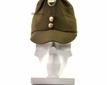 Original Hungary army cap. Hungarian military hat with badge insignia Olive drab