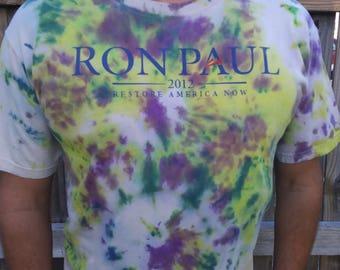 Ron Paul t-shirt Tie Dyed- Men's XL