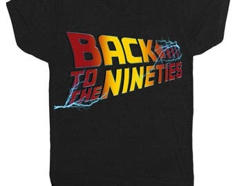 Back To The Future 90S Stag Do Birthday Movie Film Mens Black T Shirt