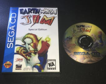 Sega CD Earthworm Jim Special Edition Reproduction