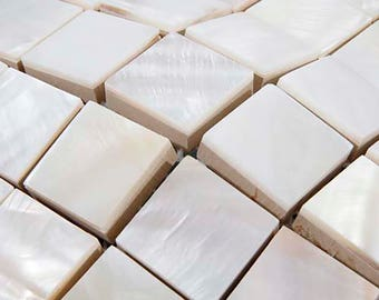8mm thickness Whitest Mother of pearl shell Mosaic kitchen backsplash MOP136 freshwater shell bathroom wall tiles