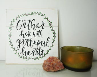 Wooden wall sign w/ quote