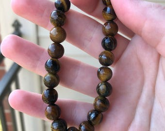 Brown Big Beaded Bracelet