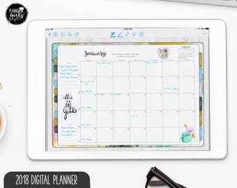 2018 My Year She Boss - Digital Planner for GoodNotes, Digital Bullet Journaling, Metamoji Planner, PDF Planner, XoDo Planner