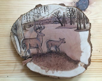 Wood Burning, Made to Order, Landscape Art, Wildlife Art, Rustic Wall Art
