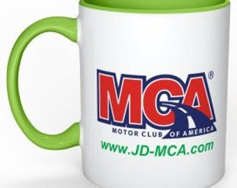 MCA Coffee mug with logo as shown.  Customize with your website and choose from 8 colors!!