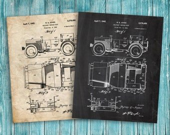 Willy's Jeep Patent Poste, jeep poster, jeep blueprint, jeep printable, garage decor, military gift, US Army, Army Gifts