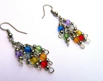 Multicolored Chakra Earrings