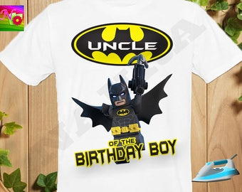 Uncle, Uncle Iron On Transfer, Iron On Batman Birthday Uncle Shirt, The Darknight Birthday Boy Shirt Iron On Transfer, Instant Download