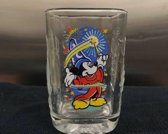 Collectible Walt Disney World Mickey Mouse Millennium 2000 Glass McDonalds