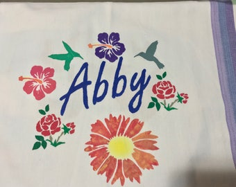 Custom Hand-Painted Kitchen Towels!!