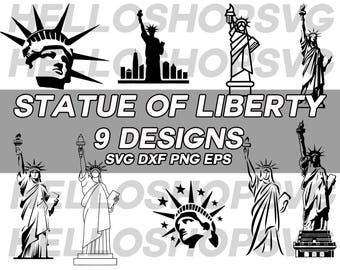 statue of liberty svg, liberty svg, landmark, fourth of july svg, 4th july svg, america svg, freedom svg, new york svg, clipart, silhouette