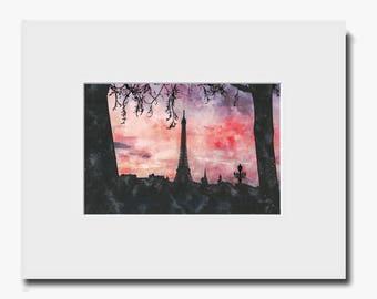 An evening in Paris - Fine Art Print