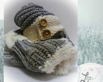 Ensemble tuque et foulard au crochet