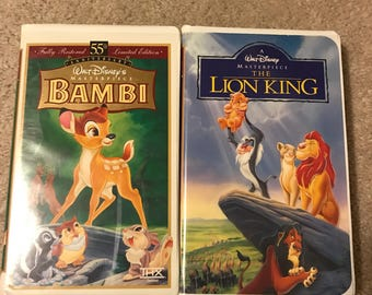 Lion King and Bambi VHS Masterpiece Collection