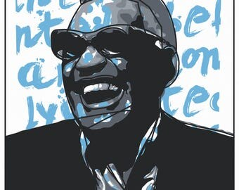 Ray Charles Art - I never wanted to be famous