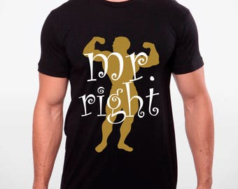 mr right mrs always right couple 100% cotton tshirt