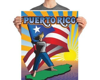 "Puerto Rico ""Jibaro"" Poster"