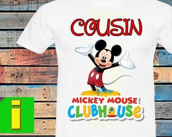 Cousin,Mickey Mouse Iron On Transfer,Mickey Mouse Birthday Shirt Iron On Transfer,Birthday Party Shirt, Instant Download, Digital File Only