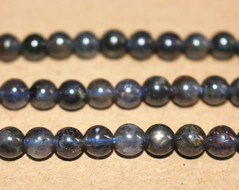 6mm Natural Round Cordierite Beads Wholesale,loose beads,semi-precious stone,15 Inches Full strand,