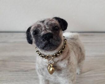"""Needle felt dog """"Manni""""-handmade miniature dog-Unique"""