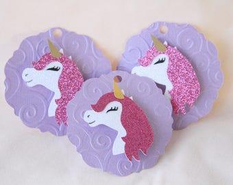 1 dozen Unicorn Tags