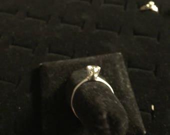 14kt Antique engagement ring with the mine cut diamond 65pt diamond