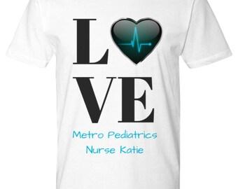 Personalized Nurse Metro Pediatric T-Shirt