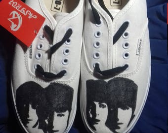 Painted shoes the beatles