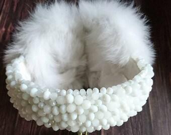 Rabbit fur Handmade Earmuffs