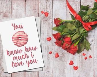 You Donut Know' Valentine's Day Card