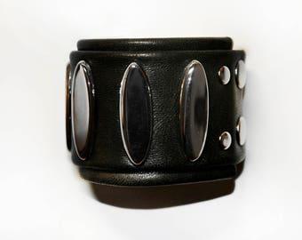 SPIKY SILVER&BLACK bracelet