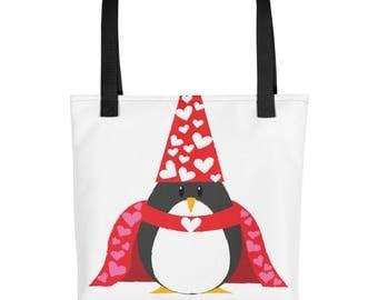 Penguin of Love Tote bag