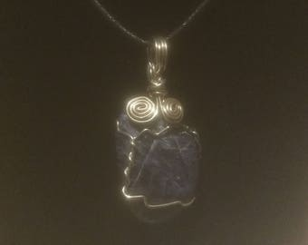 Sodalite Wrapped Pendant