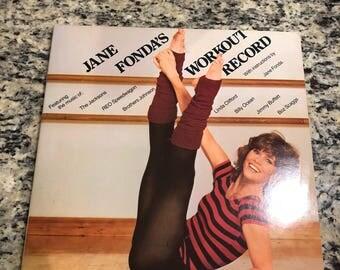 Jane Fonda's Workout Record With Instructions by Jane Fonda