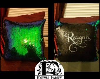 Hidden Message Pillow-Decorative Pillow-Pillow-Bed Pillow-Custom Pillow-Sequin Pillow-Personalized Pillow