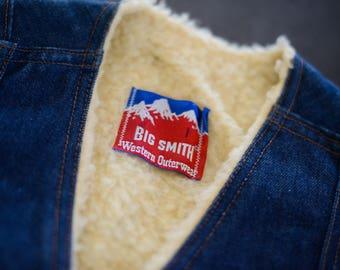 Vintage Big Smith Denim and Shearling Vest