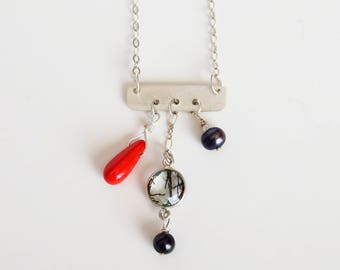 Sterling Sliver Bar Necklace